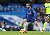 2nd February 2019, Stamford Bridge, London, England; EPL Premier League football, Chelsea versus Huddersfield Town; Gonzalo Higuain of Chelsea controls the ball