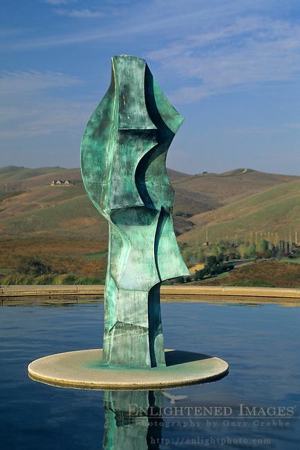 Fountain Art at Artesa Winery, Carneros Region, Napa County, California