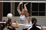 Photograph from the 2008 Mt. Rainier Lutheran High School girl's volleyball season.