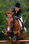Spain's jockey Cristina Toda with the horse Cashmire during 102 International Show Jumping Horse Riding, Gran Prix of Madrid-Volvo Throphy.May, 19, 2012. (ALTERPHOTOS/Acero)
