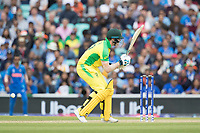 Steve Smith (Australia)   wears a short delivery as he misses his attempted pull of Jasprit Bumrah (India) during India vs Australia, ICC World Cup Cricket at The Oval on 9th June 2019