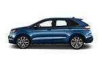 Car driver side profile view of a 2017 Ford Edge Sport 5 Door SUV