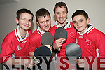 Pictured enjoying the U15 county community games table tennis finals in St Marys Parish Hall on Friday night were Rhys Barry, Alex O'Mahony, James O'Connor and Colin Griffin, St Brendans, Listellick.