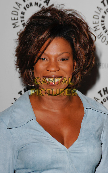 "LORRAINE TOUSSAINT .arriving at the Third Season Premiere and Panel Discussion for ""Saving Grace"" at The Paley Center for Media in Beverly Hills, California, USA, June 13th 2009..portrait headshot smiling collar  blue wrap .CAP/ROT.©Lee Roth/Roth Stock/Capital Pictures."