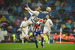 Real Madrid's player Danilo Luiz Da Silva and Sporting de Gijon's player Moi Gonzalez during match of La Liga between Real Madrid and Sporting de Gijon at Santiago Bernabeu Stadium in Madrid, Spain. November 26, 2016. (ALTERPHOTOS/BorjaB.Hojas)