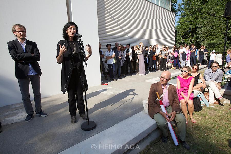 54th Biennale of Venice..ILLUMInazioni - ILLUMInations.Giardini, Austrian Pavillion..Markus Schinwald, 2011..Opening Ceremony..Markus Schinwald; Curator Eva Schlegel.