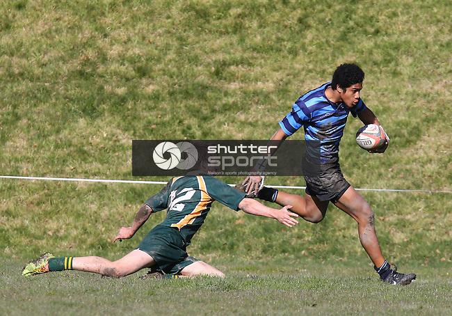 U 15 Rugby Final Nelson v Waimea,Nelson College Saturday 16th August 2014,Evan Barnes / www.shuttersport.co.nz