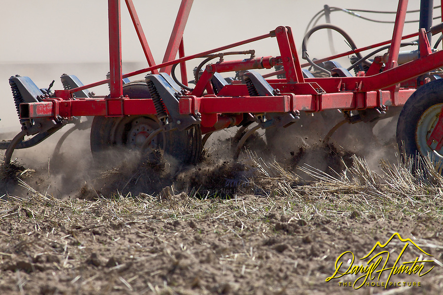 Tilling the soil, farming in Idaho