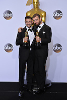 Sam Smith & Jimmy Napes at the 88th Academy Awards at the Dolby Theatre, Hollywood.<br /> February 28, 2016  Los Angeles, CA<br /> Picture: Paul Smith / Featureflash