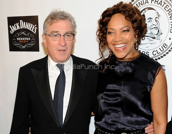 New York, NY- October 7:  Robert De Niro and Grace Hightower attend the Friars Foundation Gala honoring Robert De Niro and Carlos Slim at the Waldorf-Astoria on October 7, 2014 in New York City. Credit: John Palmer/MediaPunch