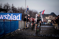 CX World Champion Mathieu van der Poel (NED/Corendon-Circus) in a league of his own once again<br /> <br /> Azencross Loenhout 2019 (BEL)<br />  <br /> ©kramon