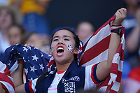 DECINES-CHARPIEU, FRANCE - JULY 07: USA Fans prior to the 2019 FIFA Women's World Cup France Final match between Netherlands and the United States at Groupama Stadium on July 07, 2019 in Decines-Charpieu, France.