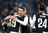 Calcio, Coppa Italia round 8 : Juventus - AS Roma, Turin, Allianz Stadium, January 22, 2020.<br /> Juventus' captain Leonardo Bonucci (l) celebrates after scoring  with his teammates during the Italian Cup football match between Juventus and Roma at the Allianz stadium in Turin, January 22, 2020.<br /> UPDATE IMAGES PRESS/Isabella Bonotto
