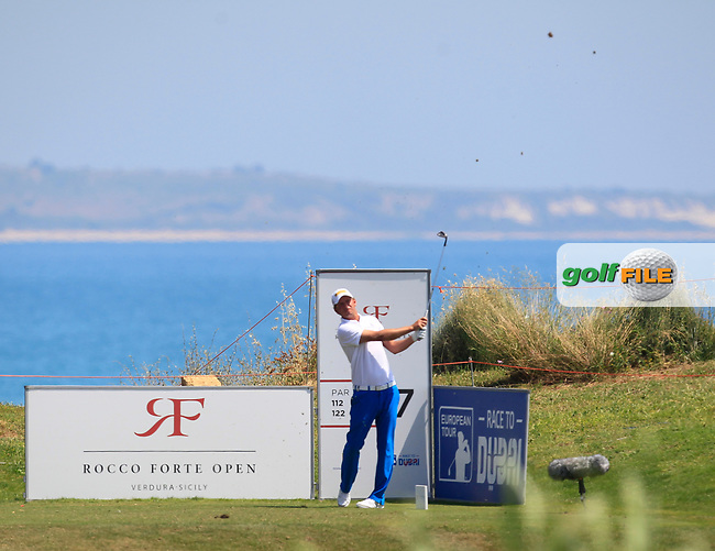 Marcel Siem (GER) on the 7th tee during Round 1 of The Rocco Forte Open  at Verdura Golf Club on Thursday 18th May 2017.<br /> Photo: Golffile / Thos Caffrey.<br /> <br /> All photo usage must carry mandatory copyright credit     (&copy; Golffile | Thos Caffrey)
