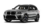 Stock pictures of low aggressive front three quarter view of 2020 BMW X3 M-Competition 5 Door SUV Low Aggressive