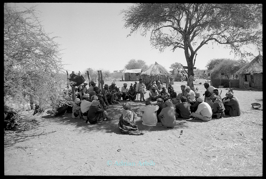 Meeting. Nyae Nyae farmers' cooperative , Bushmanland. Namibia