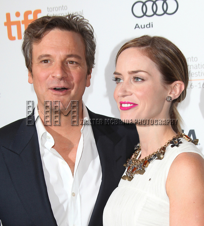 Colin Firth & Emily Blunt attending the The 2012 Toronto International Film Festival.Red Carpet Arrivals for 'Arthur Newman' at the Elgin Theatre in Toronto on 9/10/2012