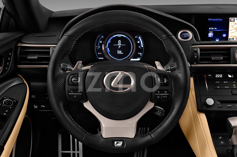 Car pictures of steering wheel view of a 2017 Lexus RC F-SPORT-Line 2 Door Coupe Steering Wheel