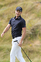 Danny Willett (ENG) misses his putt on the 18th green during Sunday's Final Round of the 2018 Dubai Duty Free Irish Open, held at Ballyliffin Golf Club, Ireland. 8th July 2018.<br /> Picture: Eoin Clarke   Golffile<br /> <br /> <br /> All photos usage must carry mandatory copyright credit (&copy; Golffile   Eoin Clarke)