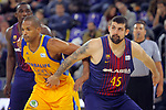 League ACB-ENDESA 2017/2018 - Game: 12.<br /> FC Barcelona Lassa vs Herbalife Gran Canaria: 77-88.<br /> Eulis Baez vs Adrien Moerman.