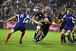 All Black Piri Weepu in action during the first international rugby test at Eden Park, Auckland, New Zealand, Saturday, June 02, 2007. The All Blacks beat France 42-11.