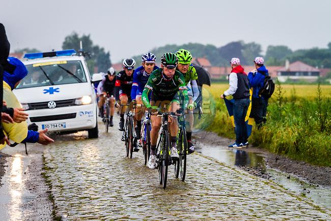 Thomas Voeckler, Europcar, Tour de France, Stage 5: Ypres > Arenberg Porte du Hainaut, UCI WorldTour, 2.UWT, Wallers, France, 9th July 2014, Photo by Thomas van Bracht / Peloton Photos
