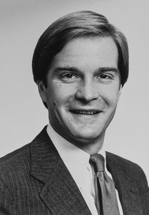 Close-up of Rep. Bill Schuette, R-Mich., in March 1985 (Photo by Keith Jewell/CQ Roll Call)