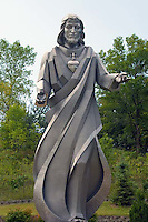 Stainless steel Jesus statue in Sioux City, Iowa