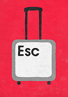 Escape key as suitcase ExclusiveImage