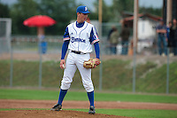 26 july 2010: Anthony Piquet of France pitches against Ukraine during France 10-2 victory over Ukraine, in day 4 of the 2010 European Championship Seniors, in Neuenburg, Germany.
