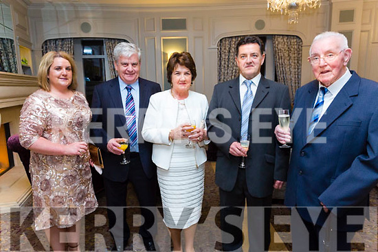 At the Austin Stacks Centenary Gala Dinner in the Rose Hotel on Saturday were Antoinette O'Donoghue, Tony O'Donoghue, June O'Donoghue, Ricky Ryan, Paddy Ryan