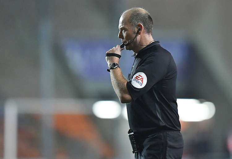 Referee Andy Haines<br /> <br /> Photographer Dave Howarth/CameraSport<br /> <br /> The Emirates FA Cup Second Round Replay - Blackpool v Solihull Moors - Tuesday 18th December 2018 - Bloomfield Road - Blackpool<br />  <br /> World Copyright © 2018 CameraSport. All rights reserved. 43 Linden Ave. Countesthorpe. Leicester. England. LE8 5PG - Tel: +44 (0) 116 277 4147 - admin@camerasport.com - www.camerasport.com