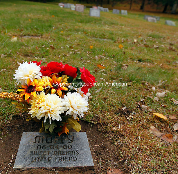 Kent, CT- 15, October 2010-101510CM05  A gravestone at the Balmoral Pet Cemetery in Kent Friday afternoon. Balmoral, run by Allen Ade, is one of the pet cemeteries in the state.  Christopher Massa Republican-American