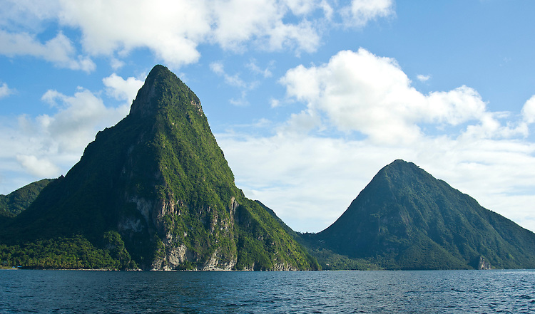 Saint Lucias most distinctive landmark, the pitons