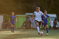 Seattle, WA - April 15th, 2017: Erica Skroski during a regular season National Women's Soccer League (NWSL) match between the Seattle Reign FC and Sky Blue FC at Memorial Stadium.