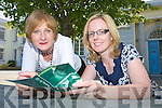 Celia Blinkhorn and Aoife McCormack at Kerry Education Sevice, Moyderwell, on Friday.