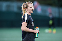 Allston, MA - Saturday Sept. 24, 2016: Samantha Mewis prior to a regular season National Women's Soccer League (NWSL) match between the Boston Breakers and the Western New York Flash at Jordan Field.