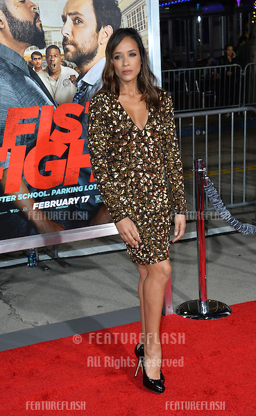 Dania Ramirez at the world premiere for &quot;Fist Fight&quot; at the Regency Village Theatre, Westwood, Los Angeles, USA 13 February  2017<br /> Picture: Paul Smith/Featureflash/SilverHub 0208 004 5359 sales@silverhubmedia.com