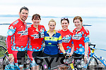 Killarney cyclists Matthew Linehan, Siobhan Linehan, Christina Foley, Melissa Hegarty and Orla Costin  at the top of  Coommosta during their Ring of Kerry cycle on Saturday morning