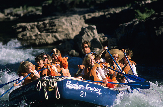 Model Released, White-water Rafting, Kahuna Rapid, Snake River, Wyoming
