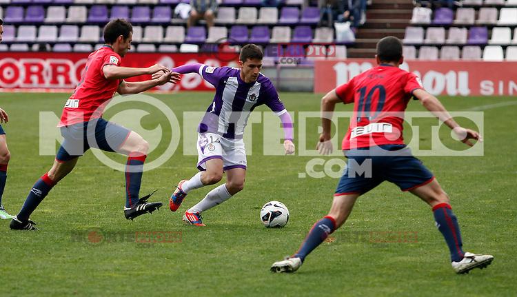 Real Valladolid´s Omar during match of La Liga 2012/13. 31/03/2013. Victor Blanco/Alterphotos /NortePhoto
