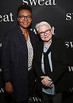 "Paula Vogel and Guest attends the Broadway Production of  ""Sweat"" at studio 54 Theatre on March 26, 2017 in New York City"