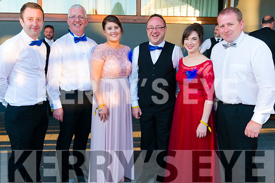 Musical Society Awards Night Gala Dinner in the Gleneagle Hotel, Killarney last Saturday. Pictured are l-r Michael Power, Tomas Kehoe, Annemarie Hefferner, Owen Cullinan, Grainne Burke and Mark Hayden from St Michaels Theatre Musical Society, New Ross, Co. Wexford