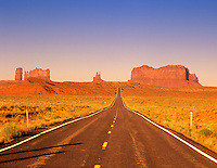 Monument Valley as seen from Highway 163, Utah.