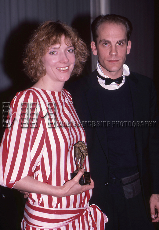 Glenne Headly and John Malkovich attend the Theatre World Awards on June 1, 1984 in New York City.