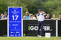 Stuart Manley (WAL) tees off the 17th tee during Sunday's Final Round of the Northern Ireland Open 2018 presented by Modest Golf held at Galgorm Castle Golf Club, Ballymena, Northern Ireland. 19th August 2018.<br /> Picture: Eoin Clarke | Golffile<br /> <br /> <br /> All photos usage must carry mandatory copyright credit (&copy; Golffile | Eoin Clarke)