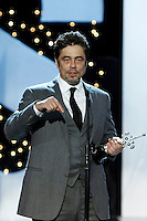 Puerto Rician actor Benicio del Toro receives the Donostia Award during the 62st San Sebastian Film Festival in San Sebastian, Spain. September 26, 2014. (ALTERPHOTOS/Caro Marin) /NortePHOTO.com /nortephoto.com