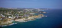 Luguna CA Aerial, Pirate Tower, Victoria Beach, View, Coast, Waterfront, Luxury Home's Cliffs,