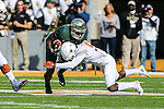 Texas Longhorns cornerback Davante Davis (9) in action during the game between the Texas Longhorns and the Baylor Bears at the McLane Stadium in Waco, Texas.