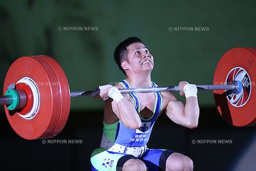 Hiroaki Takao, <br /> MAY 21, 2016 - Weightlifting : <br /> All Japan Weightlifting Championship 2016 Men's -56kg <br /> at Yamanashi Municipal Gymnasium, Yamanashi, Japan. <br /> (Photo by AFLO SPORT)
